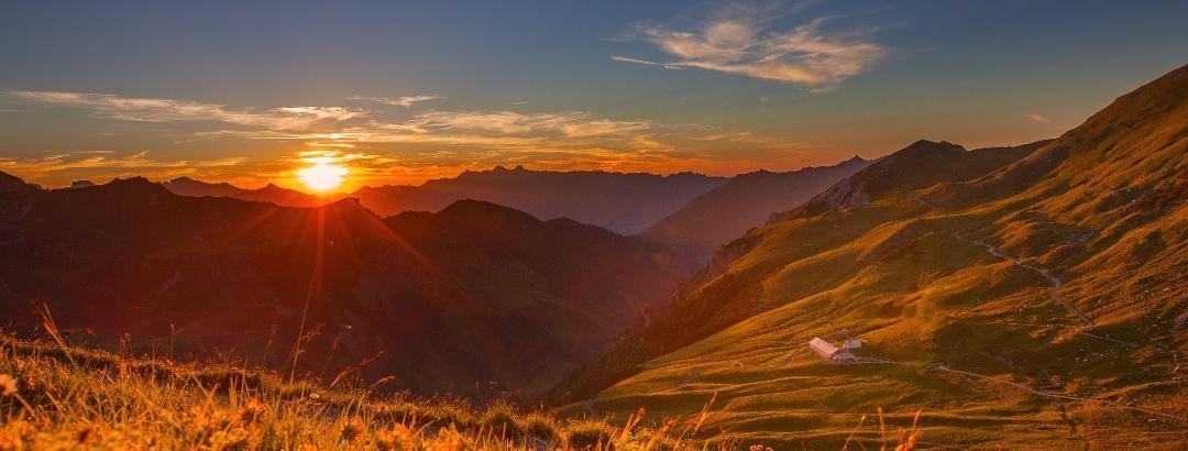 Sonnenuntergang in Lichtenstein