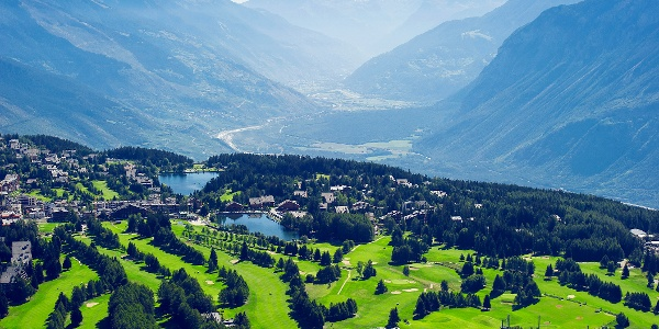 Crans-Montana view from above