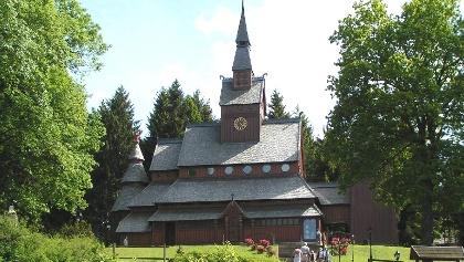 Nordische Stabkirche in Hahnenklee