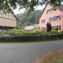 Blumengarten in der Ortsmitte von Gundelfingen