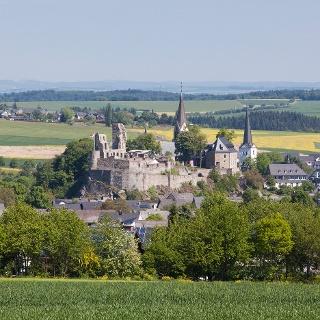 Blick auf Burgstadt Kastellaun