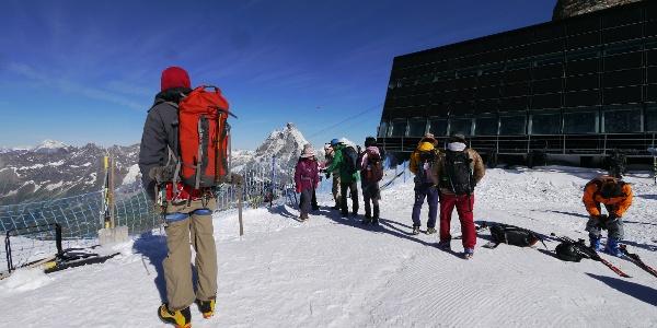 Bergstation auf dem Klein Matterhorn