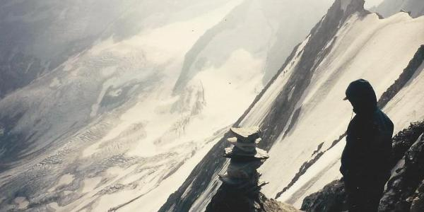 Auf den Hochfeiler (3610m) - Blick in die Nordwand