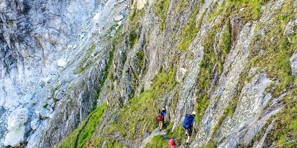 Im Klettersteig hinunter ins Spicherribichelen