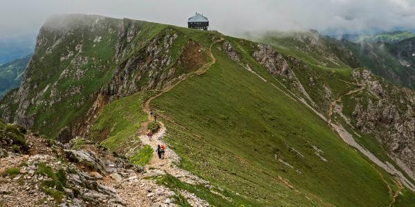 Vom Gipfelbereich zur Reichensteinhütte