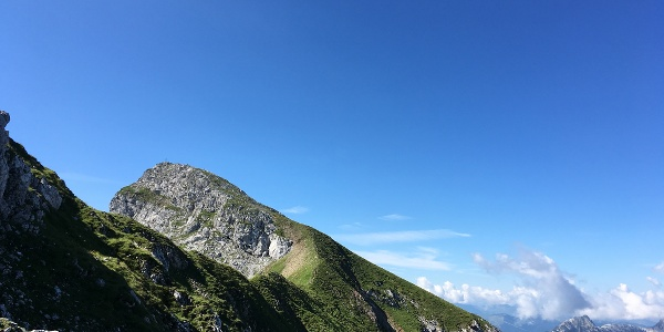 Kematenschneid Blick Richtung Gipfel Seehorn