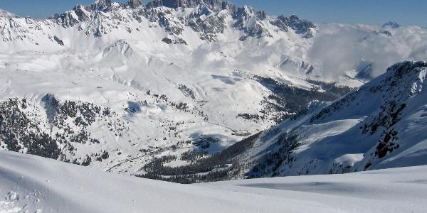 Panorama direction Marmolada