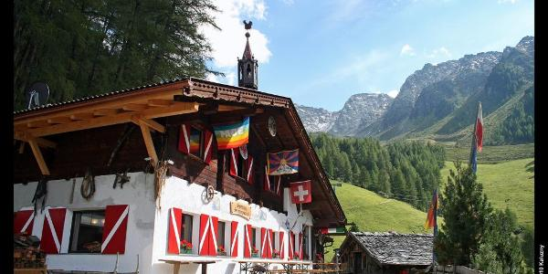 Speck- und Schnapsalm beim Aufstieg zum Klaussee