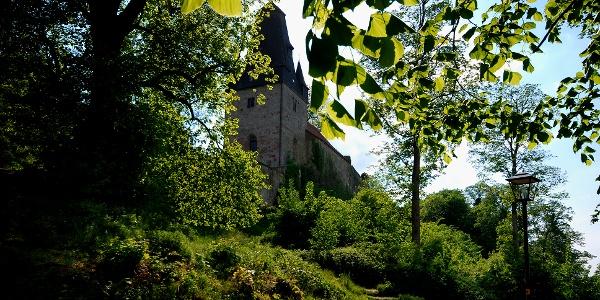 Blick auf die Katharinenkirche der Burg Bentheim