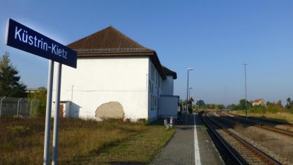 Küstrin-Kiez, Start der Tour direkt an der Grenze zu Polen