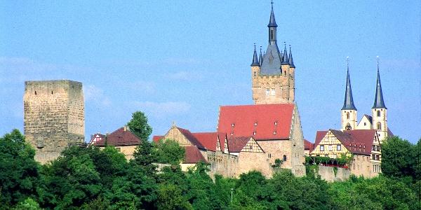 Silhouette von Bad Wimpfen mit der Kaiserpfalz und der  ev. Kirche