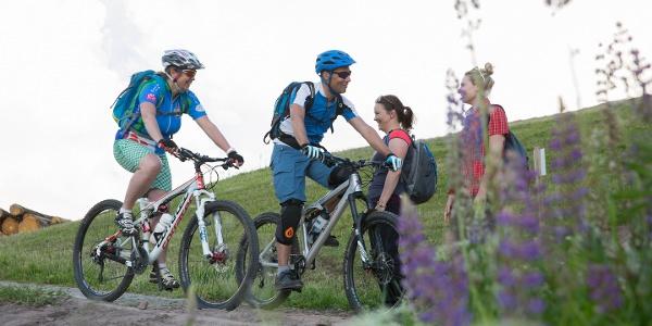 Cross-Country Strecke Stöckerkopf mit Begegnung Wanderer