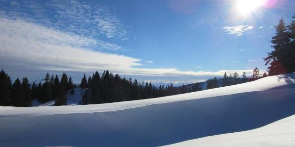Schneeschuhwandern im Kampenwandgebiet