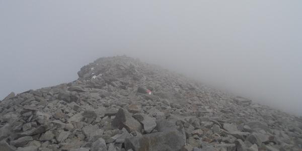 bei Nebel schwierige Orientierung