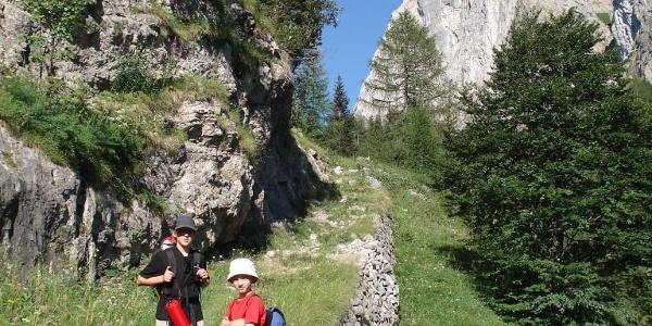 Creta di Timau, Anstieg zum Ric. C.ra Palgrande di sopra, Tag 1