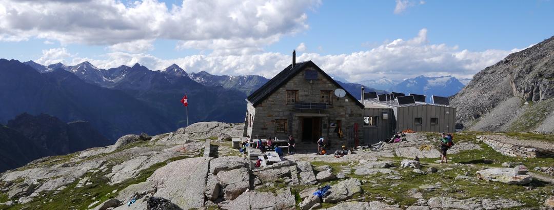 Blick auf die Bordierhütte