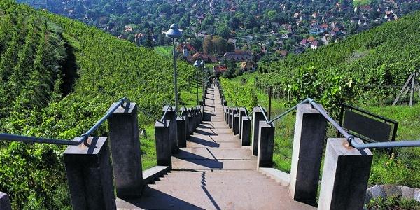 Spitzhaustreppe in Radebeul
