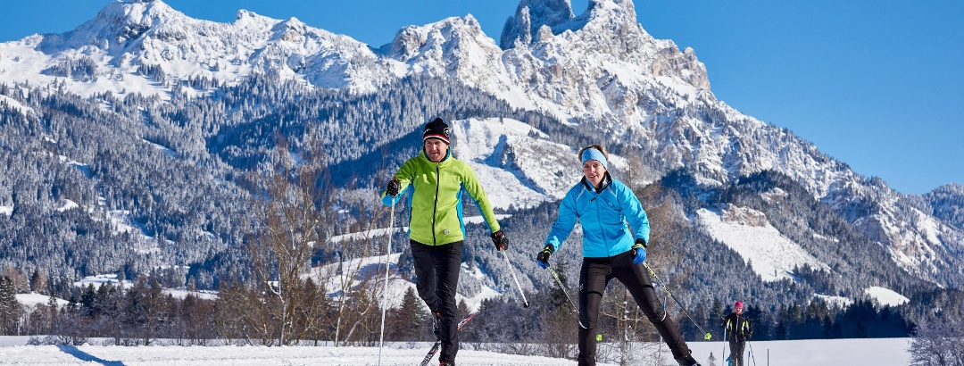 cross country skiing in Tannheimer Tal