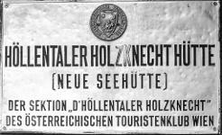 D'Höllentaler Holzknecht betreut die Seehütte, eine Sektion des ÖTK