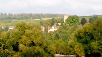 Oberhalb Obergrombach (mit Burg) nach etwa 7 km