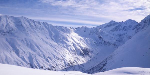 Blick von der Riffelseehütte Richtung Braunschweigerhütte