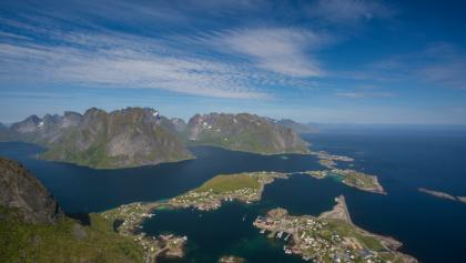 Top view on the Reine