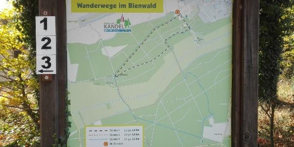 Tafel - Naturfreunderundwanderwege Ecke Badallee/Jahnstr.