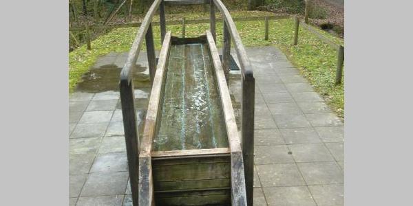 Erfrischung an der Wassertretstelle