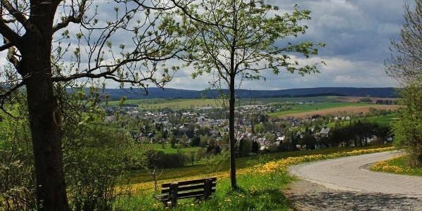 Blick vom Liebenstein auf Crottendorf