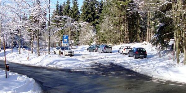 """Wanderparkplatz """"Großes Bildchen"""", Einstiegspunkt in die Hunau-Loipe"""
