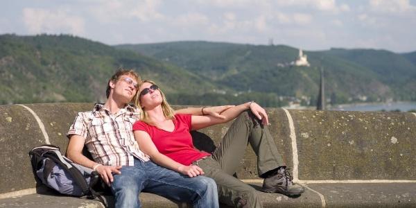 Auf dem Königsstuhl mit Blick auf den Rhein