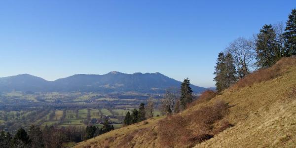 Blick zu Zwiesel, Heiglkopf und Blomberg