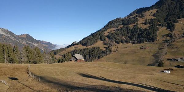 Blick oberhalb Sörenberg talwärts