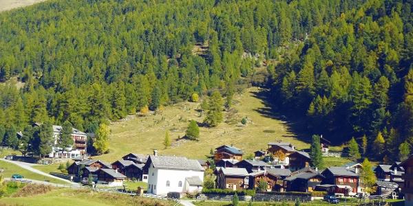 Village de Gruben dans la vallée de Tourtemagne