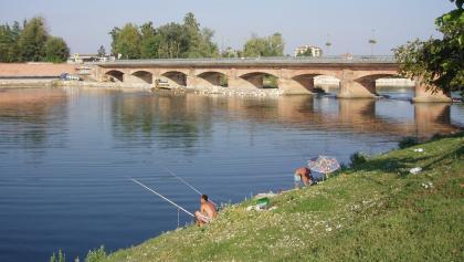 Lodi: Ponte di attraversamento fiume.