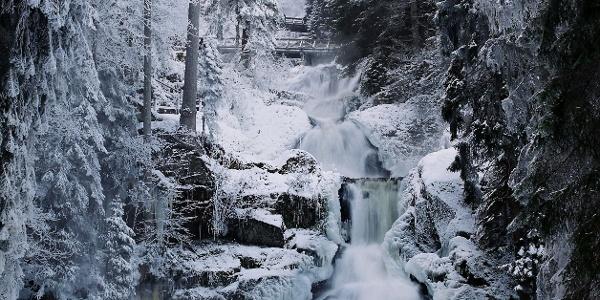 Triberger Wasserfälle im Winter
