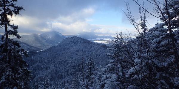Blick Richtung Salzburg - vom Gaisberg verdeckt