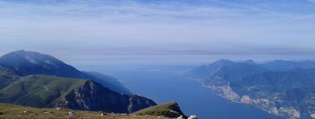 Monte Altissimo - Ausblick über den Gardasee
