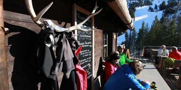 Terrasse Rohrkopfhütte