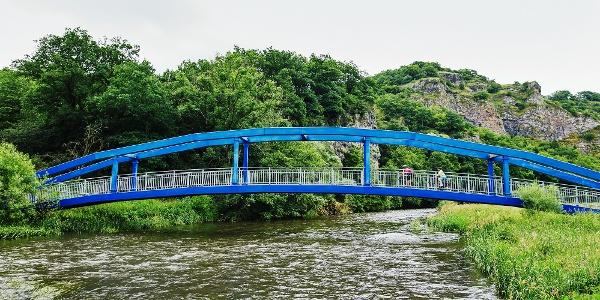Blaue Radbrücke bei Enzweiler