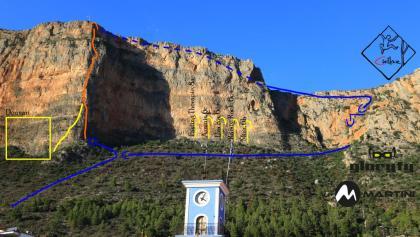 Pillar of Fire - Übersichtsbild Feuerpfeiler über Leonidio