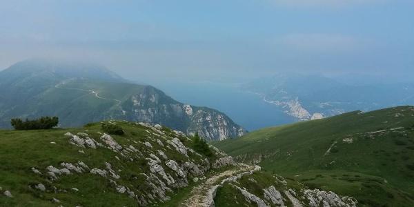 Der Weg auf dem Monte Baldo