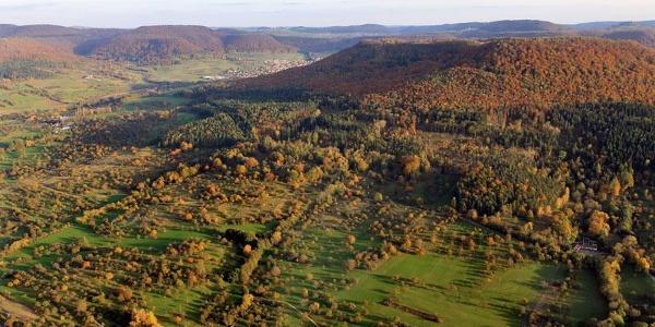 Die Mössinger Streuobstwiesen aus der Vogelperspektive