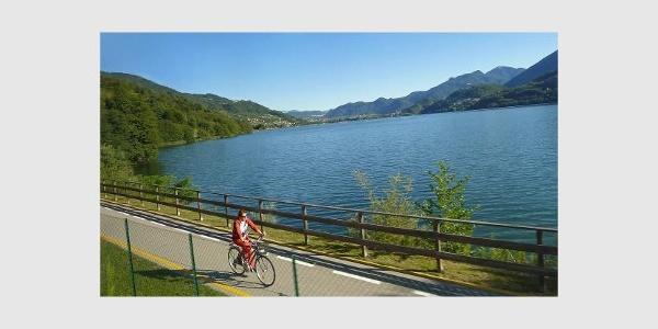 Ciclabile sul Lago di Caldonazzo