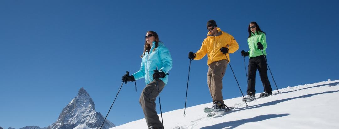 Schneeschuhwandern in Zermatt