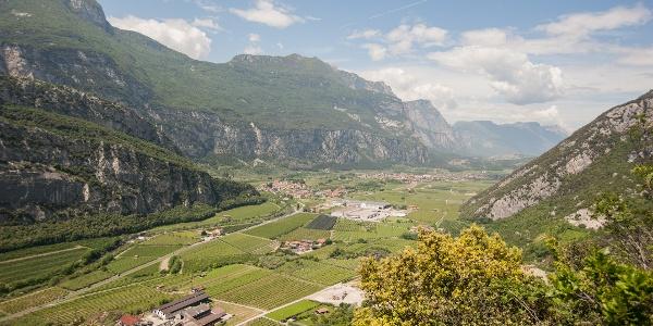 La Valle del Sarca vista dal Sentiero della Maestra