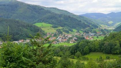"""Blick über Gutach vom """"Lehmbauern Bühl"""""""