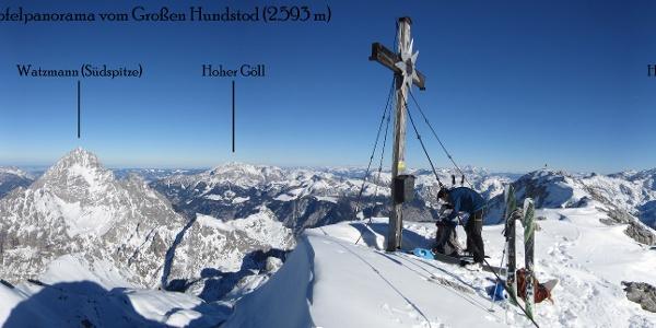 Gipfelpanorama vom Großen Hundstod im Steineren Meer