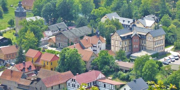Blick vom Kirschberg auf Keilhau