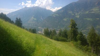 Blick zurück ins Vinschgau auf dem Weg zur Naturnser Alm